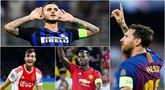 Berikut ini daftar top scorer sementara Liga Champions 2018/2019. Messi teratas dengan koleksi 3 gol. (Foto-foto Kolase AP dan AFP).