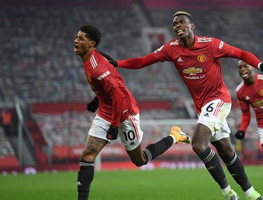 Foto Liga Inggris: Gol Injury Time Marcus Rashford Bawa Manchester United ke Posisi 2
