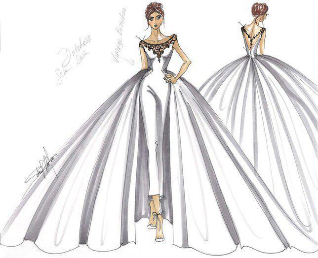 Rancangan Maggioe Sottero sebagai prediksi gaun Meghan. Credit: via brides.com