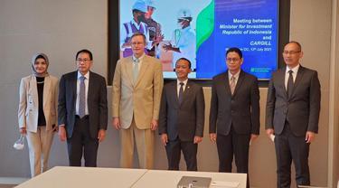 Menteri Investasi/Kepala BKPM  Bahlil Lahadalia, melakukan pertemuan dengan perwakilan Cargill di Washington DC dalam rangkaian kunjungan kerja ke AS.
