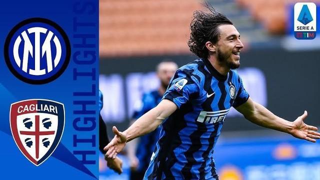 Berita video highlights kemenangan Inter Milan atas Cagliari 1-0 pada pekan ke-30 Liga Italia 2020/2021, Minggu (11/4/2021) sore hari WIB.