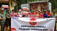 Pertamina salurkan bantuan logistik tahap 2 untuk korban tsunami Banten. (foto: dok. Pertamina)