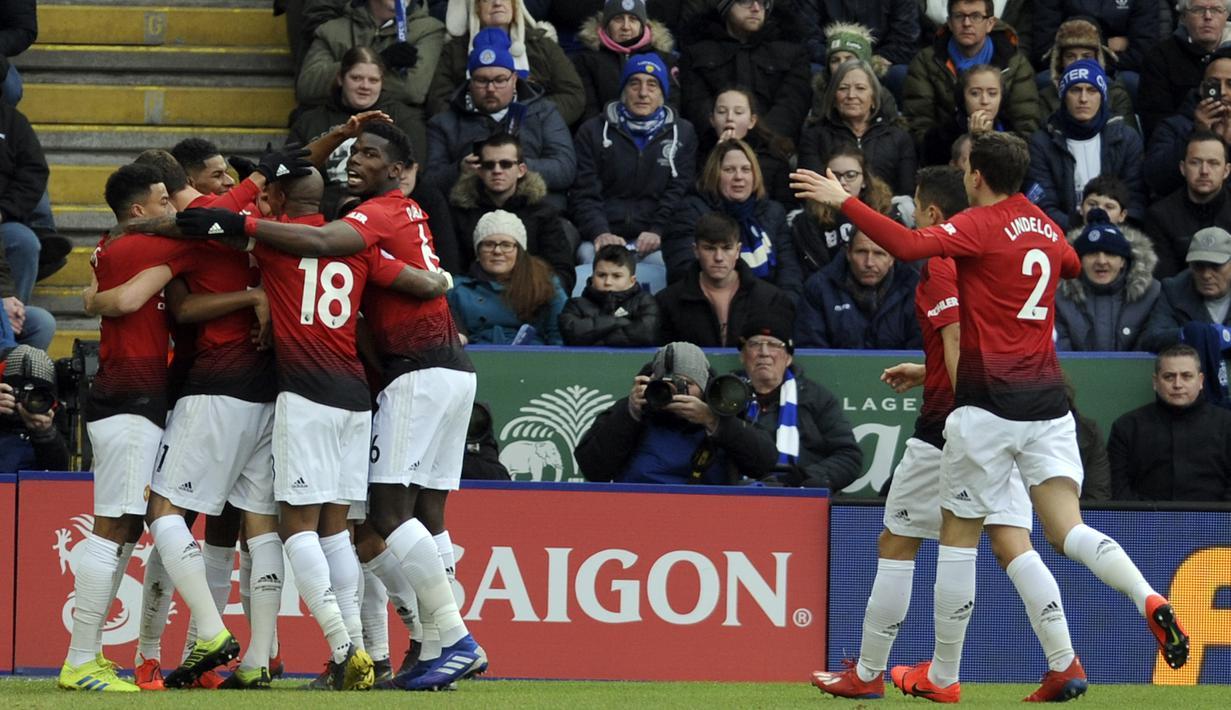 FOTO Manchester United Menang Tipis Atas Leicester City