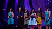Grup Manis Dut yang terdiri dari Rasya, Dua N (Neneng dan Nunung), Lesti, Lia Dan Bonita. ( foto : Miftahul Hayat )