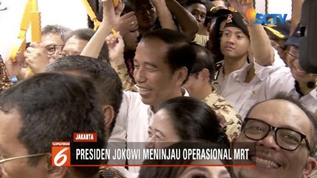 Presiden Jokowi jajal MRT Jakarta untuk mengevaluasi kelayakan operasional sebelum diresmikan untuk komersil.