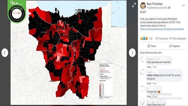 Cek Fakta Tidak Benar Foto Peta Penyebaran Covid 19 Di Jakarta Berwarna Hitam Dan Merah Cek Fakta Liputan6 Com