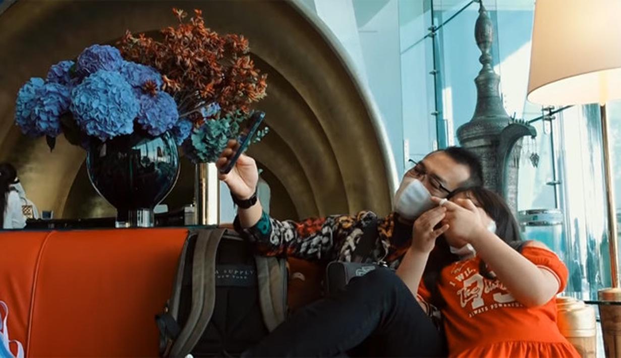 Ashanty dan Anang Hermansyah menginap di hotel bintang 7 (Youtube/The Hermansyah A6)