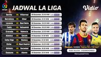 Pertandingan lengkap La Liga Spanyol pekan ke-16 dapat disaksikan melalui platform streaming Vidio. (Dok. Vidio)