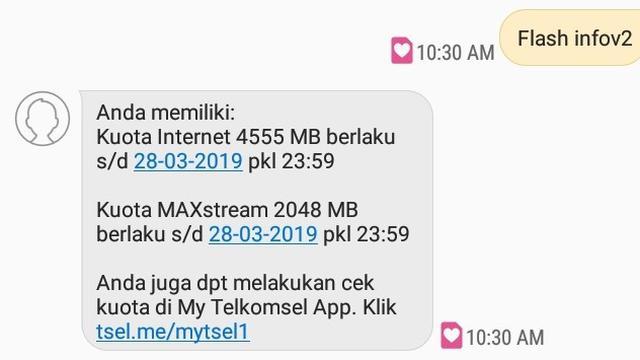 079282700 1551328716 Foto 4 Cek Kuota Internet Simpati lewat SMS