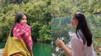 Aisyah Aqilah syuting sambil liburan di Papu (Sumber: Instagram/aisyahaqilahh)