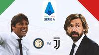 Serie A - Inter Milan Vs Juventus - Head to Head Pelatih: Antonio Conte Vs Andrea Pirlo (Bola.com/Adreanus Titus)