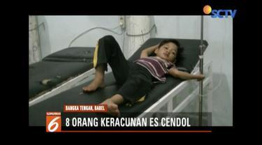 Delapan orang di Bangka Tengah, Kepulauan Bangka Belitung, alami keracunan usai santap es cendol di Pasar Koba.