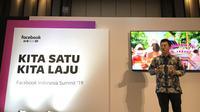 Facebook menggelar acara Facebook Indonesia Summit bertajuk Kita Satu Kita Laju.
