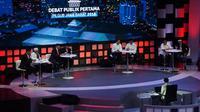 4 Pasangan calon gubernur dan wakil gubernur mengkuti debat Pilkada Jabar di Sabuga, Bandung, Senin (12/3/2018).  (Liputan6.com/Huyogo Simbolon)