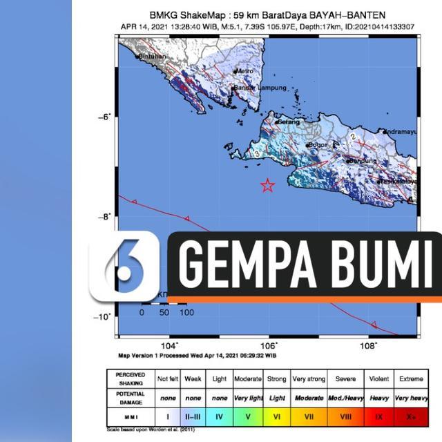 Video Gempa Magnitudo 5 Di Banten Terasa Hingga Jakarta News Liputan6 Com