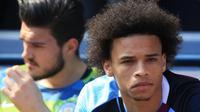 Bayern Munchen sejauh ini belum melakukan kontak apapun dengan Manchester City terkait transfer Leroy Sane. (AFP/Lindsey PARNABY)