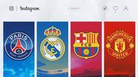 Ilustrasi - Instagram PSG, Real Madrid, Barcelona, Manchester United (Bola.com/Adreanus Titus)