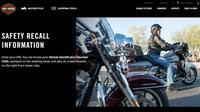 Harley Davidson tarik 250 ribu motornya di seluruh dunia.