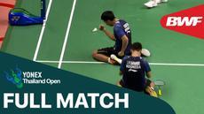 Berita video full match Leo Rolly Carnando / Daniel Marthin saat menaklukkan pasangan Inggris, Marcus Ellis / Chris Langridge, pada babak perempat final Thailand Terbuka 2021, Jumat (15/1/2021).