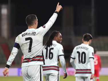 FOTO: Cristiano Ronaldo Sumbang 1 Gol dalam Kemenangan Portugal 3-1 atas Luksemburg - Cristiano Ronaldo