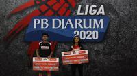 Mutiara Ayu Puspitasari dan Iqbal Asrullah Dinobatkan Menjadi Atlet Terbaik Liga PB Djarum 2020. (foto: PB Djarum)
