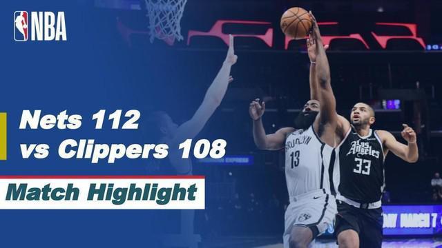 Berita Video Highlights NBA, LA Clippers Kalah dari Brooklyn Nets 108-112 (22/2/2021)