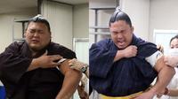 Meski berbadan besar, ternyata para sumo ini tetap merasa ketakutan saat mesti disuntik vaksin.