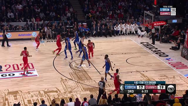 Berita Video Highlights NBA All Star 2020, Tim LeBron James Vs Tim Giannis Antetokounmpo 157-155
