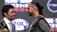 Manny Pacquiao akan bertarung melawan Keith Thurman di Las Vegas, AS, Sabtu malam waktu setempat (20/7/2019) (John Gruzinski/ AFP)