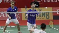 Kevin Sanjaya Sukamuljo / Marcus Fernaldi Gideon di Indonesia Masters 2020. (Bola.com/Muhammad Iqbal Ichsan)