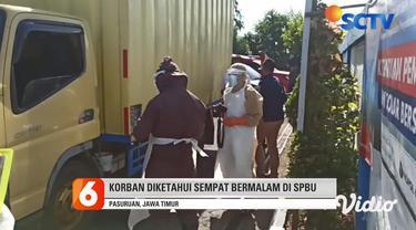 Warga di sekitar Stasiun Pengisian Bahan Bakar Umum (SPBU) di Desa Sengonagung, Kecamatan Purwosari, Kabupaten Pasuruan, dikejutkan oleh kematian seorang pengemudi di dalam kabin kendaraannya pada Selasa pagi.
