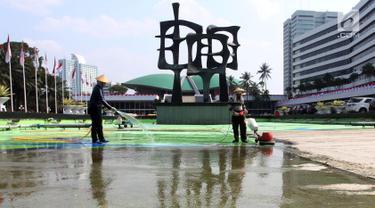 Bersih-Bersih Kolam Jelang Sidang Tahunan MPR