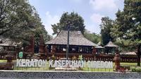 Keraton Kasepuhan Cirebon tidak membatasi jumlah pengunjung ditengah suasana new normal covid-19. Foto (Liputan6.com / Panji Prayitno)
