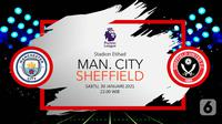 Manchester City vs Sheffield United (Liputan6.com/Abdillah)