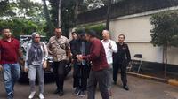Penyidik senior KPK Novel Baswedan menyambangi Komnas HAM (Liputan6.com/ Lizsa Egeham)