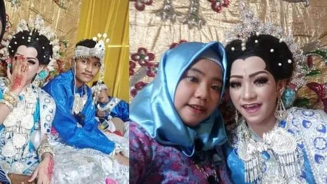 Pernikahan Aksa dan Mita (Facebook/istimewa)