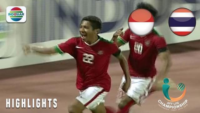 Berita video momen gol Timnas Indonesia U-16 yang dicetak Fajar Fathur Rachman ke gawang Thailand U-16 pada final Piala AFF U-16 2018, Sabtu (11/8/2018).