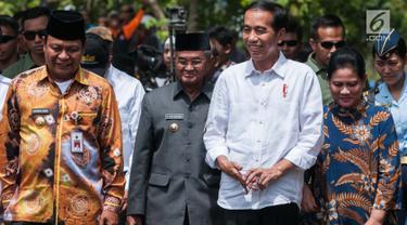 Jokowi Tinjau Program Padat Karya Tunai di Desa Pematang Panjang