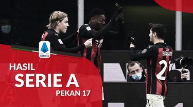 Berita motion grafis hasil Liga Italia 2020/2021 pekan ke-17. AC Milan bungkam Torino di San Siro, Sabtu (9/1/2021) dengan skor 2-0.