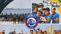 Cerita Bola - Away Arema ke Maladewa (Bola.com/Adreanus Titus/Foto: Iwan Setiawan)