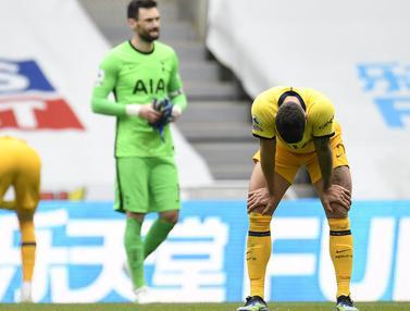 FOTO: Wajah Lesu Pemain Tottenham Hotspur Usai Kemenangan Atas Newcastle United Buyar di Depan Mata