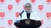 Kepala BPOM Penny K Lukito menjelaskan pihaknya telah membuat roadmap tahapan pengembangan vaksin COVID-19 dari praklinik hingga vaksin dibuat saat konferensi pers di Istana Kepresidenan Jakarta, Selasa (2/9/2020). (Dok Biro Sekretariat Presiden)