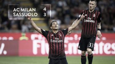 Video highlights Serie A Italia antara AC Milan melawan Sassuolo yang berakhir dengan skor 4-3, Minggu (2/10/2016) WIB