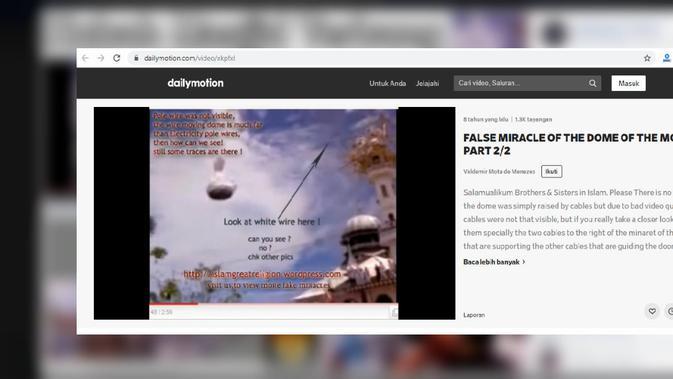 Cek Fakta - kubah masjid terbang di Nepal? (Dailymotion)