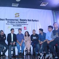 Astrid saat jumpa pers dan Distribusi Hak Royalti dari Lembaga SELMI di Hotel Denpasar, Jakarta Pusat, Selasa (27/3/2018).