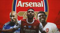 Arsenal - Nicolas Anelka, Pierre-Emerick Aubameyang, Emmanuel Adebayor (Bola.com/Adreanus Titus)