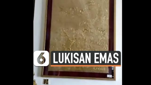 Petugas kejaksaan menggeladah salah satu tempat tinggal tersangka kasus korupsi PT Asabri. Ditemukan 36 lukisan berlapis emas yang diduga hasil praktek pencucian uang tindak pidana korupsi.