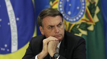 Presiden Brasil Jair Bolsonaro (AP/Eraldo Peres)