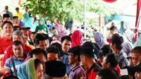 Anak Gubernur Sumsel, Dodi Reza Alex Noerdin disambut hangat para warga Kabupaten PALI Sumsel (dok.istimewa / Nefri Inge)