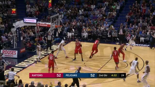 Toronto Raptors mengalahkan New Orleans Pelicans dengan skor 125-116 dalam lanjutan pertandingan NBA 2017-2018.